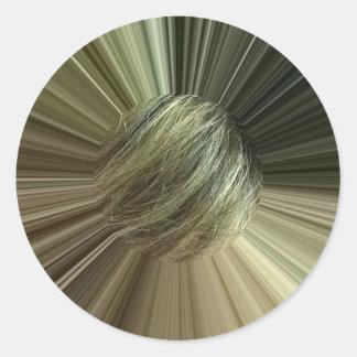image Hair Round Sticker