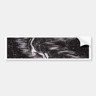 image lack and White Abstract Bumper Sticker