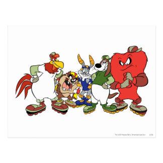 Image Looney de base-ball de groupe d airs Cartes Postales