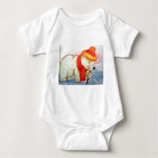 image of a bear baby bodysuit