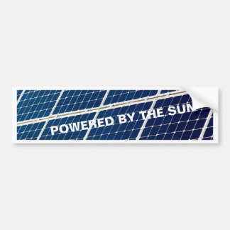 Image of a solar power panel funny bumper sticker
