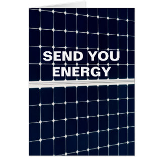 Image of a solar power panel funny card