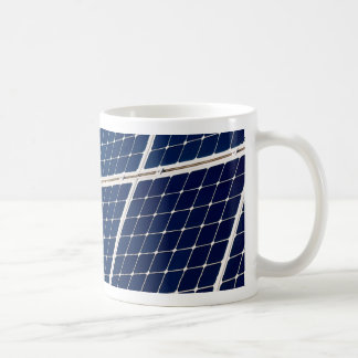 Image of a solar power panel funny coffee mug