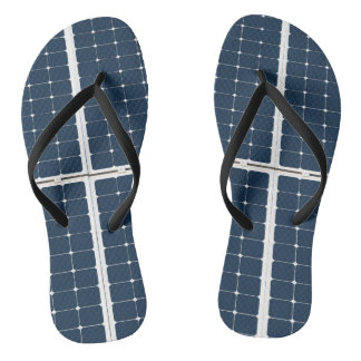 Image of a solar power panel funny flip flops