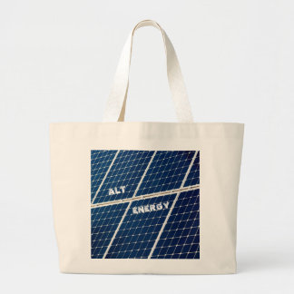 Image of a solar power panel funny large tote bag