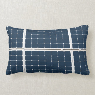Image of a solar power panel funny lumbar pillow