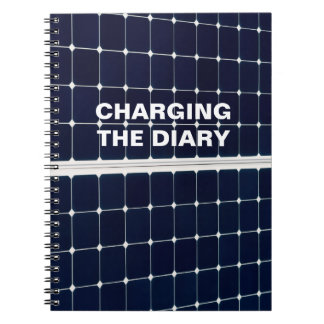 Image of a solar power panel funny notebook