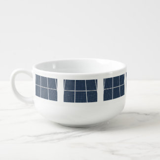 Image of a solar power panel funny soup mug