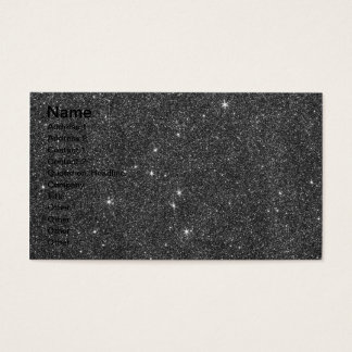 Image of Black and Grey Glitter Business Card