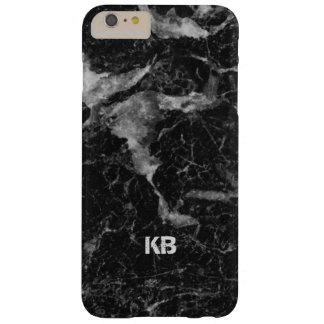 Image Of Black & Gray Marble Texture Barely There iPhone 6 Plus Case