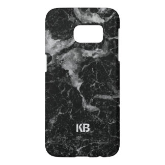 Image Of Black & Gray Marble Texture Samsung Galaxy S7 Case