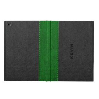Image Of Black & Green Vintage Leather Powis iPad Air 2 Case