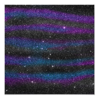Image of Black Purple Blue Glitter Gradient Art Photo