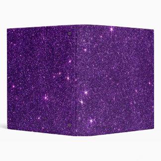 Image of Bright Purple Glitter Vinyl Binders