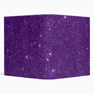 Image of Bright Purple Glitter Binders