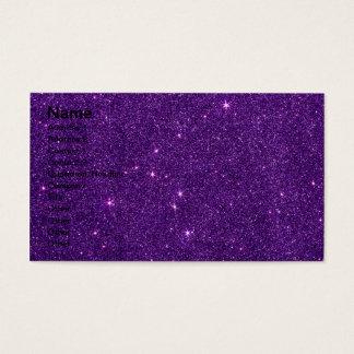 Image of Bright Purple Glitter Business Card