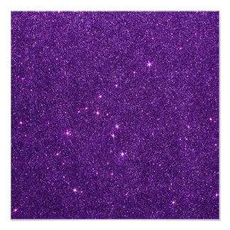 Image of Bright Purple Glitter Photo Art