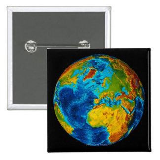 Image of Earth 2 2 Inch Square Button