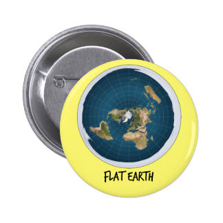 Image Of Flat Earth 2 Inch Round Button
