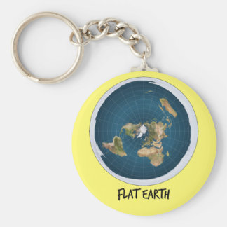Image Of Flat Earth Basic Round Button Keychain