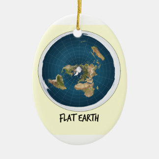 Image Of Flat Earth Ceramic Ornament