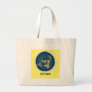 Image Of Flat Earth Large Tote Bag