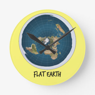 Image Of Flat Earth Round Clock