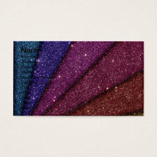 Image of Geometrical Glitter Business Card