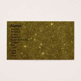 Image of gold Glitter Business Card