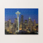 Image of Seattle Skyline in morning hours. Jigsaw Puzzle