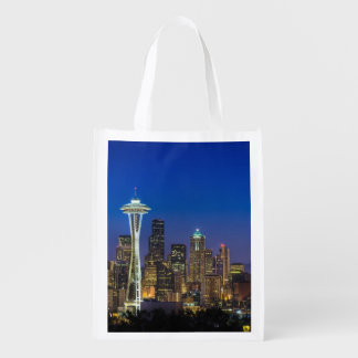 Image of Seattle Skyline in morning hours. Market Tote