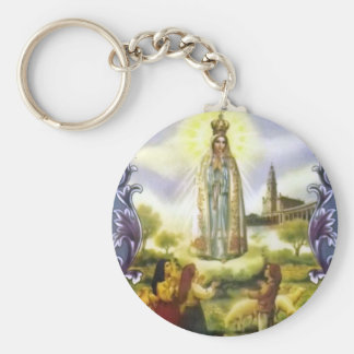 Image of the apparition Our Lady of Fatima Basic Round Button Keychain
