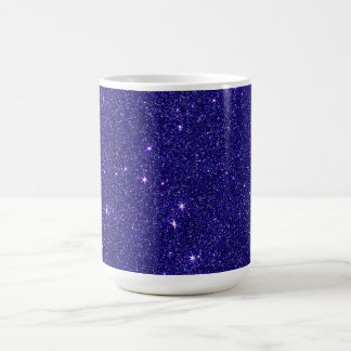 Image of trendy blue glitter coffee mug