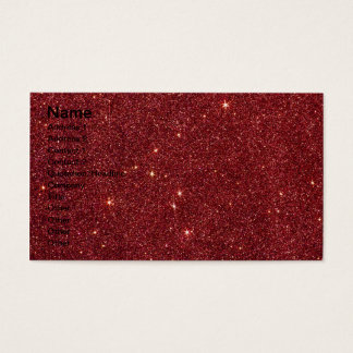 Image of trendy red glitter business card
