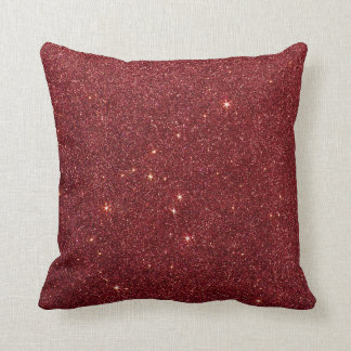 Image of trendy red glitter throw pillow