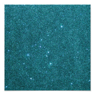 Image of trendy teal glitter art photo