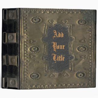 Image of Vintage, Distressed Book Cover Vinyl Binder