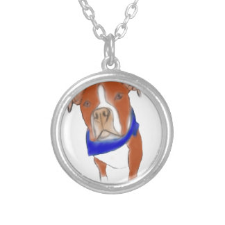 image silver plated necklace