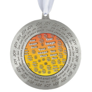 Image Template Round Pewter Ornament