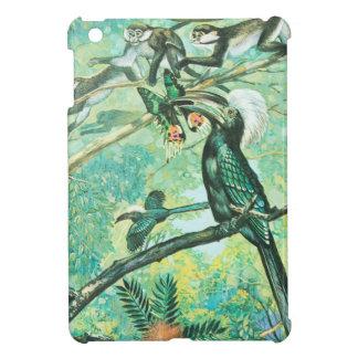 Image verte tropicale oiseau et Monkies Coques Pour iPad Mini