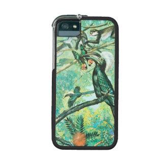 Image verte tropicale, oiseau et Monkies Étui iPhone 5