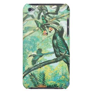 Image verte tropicale, oiseau et Monkies Coque iPod Touch Case-Mate