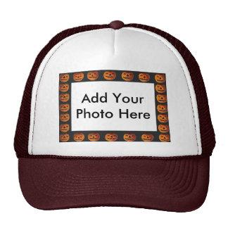 Image vintage de motif de vue de lanterne d'o de casquette trucker