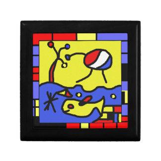 Image with fish modern art gift box