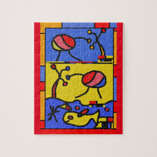 Image with fish modern art jigsaw puzzle