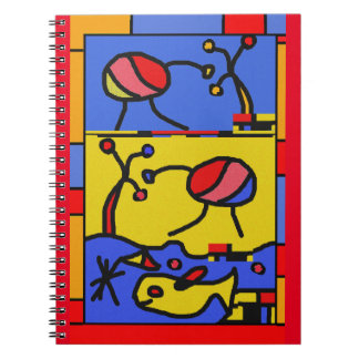 Image with fish modern art notebooks