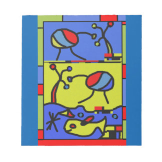 Image with fish modern art notepad