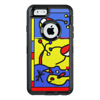 Image with fish modern art OtterBox defender iPhone case