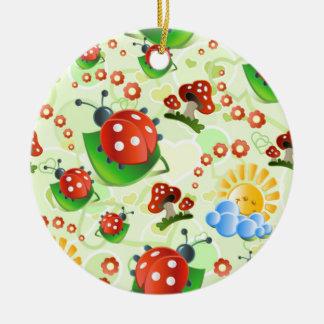 imagem infantil round ceramic ornament