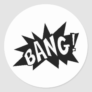 images3 BANG explosions sounds actions loud comics Classic Round Sticker